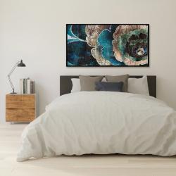 Framed 24 x 48 - Blue flower montage