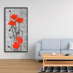 Framed 24 x 48 - Long stem flowers