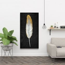 Framed 24 x 48 - Golden feather