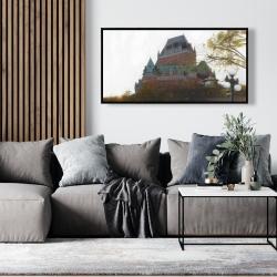 Framed 24 x 48 - Le château de frontenac in autumn