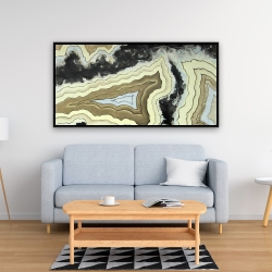 Framed 24 x 48 - Lace agate