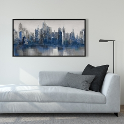 Framed 24 x 48 - Melancholy city