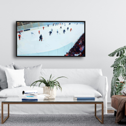 Framed 24 x 48 - Game of hockey