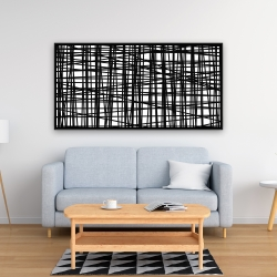 Framed 24 x 48 - Abstract small stripes