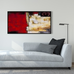 Framed 24 x 48 - Abstract industrial art with numbers