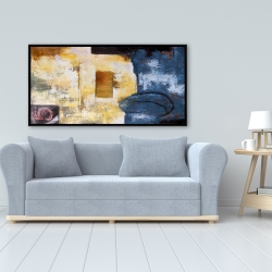 Framed 24 x 48 - Abstract art with numbers