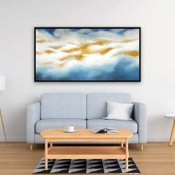 Framed 24 x 48 - Abstract clouds