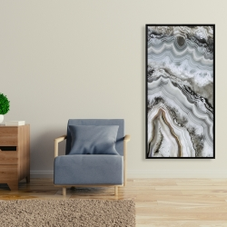 Framed 24 x 48 - Abstract geode