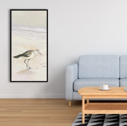 Framed 24 x 48 - Semipalmated sandpiper on the beach