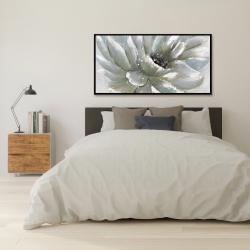 Framed 24 x 48 - White chrysanthemum