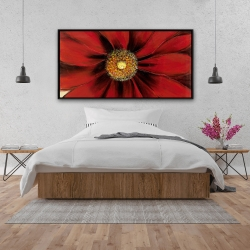 Framed 24 x 48 - Red daisy