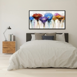 Framed 24 x 48 - Colorful flowers