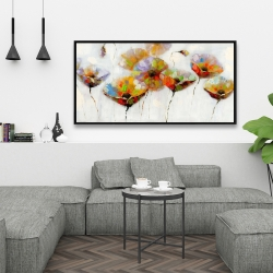 Framed 24 x 48 - Color dotted flowers