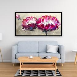 Framed 24 x 48 - Two wild flowers