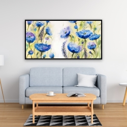 Framed 24 x 48 - Blue garden