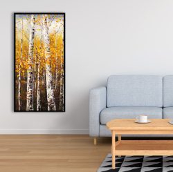 Framed 24 x 48 - Birches by sunny day