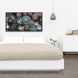 Framed 24 x 48 - Succulent set