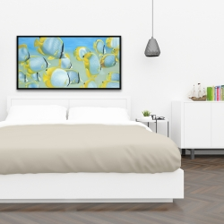 Framed 24 x 48 - Butterfly fishes