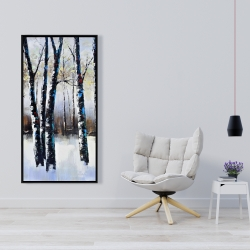 Framed 24 x 48 - Frosted trees