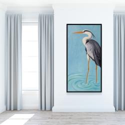 Framed 24 x 48 - Grey heron