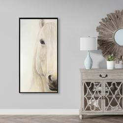 Framed 24 x 48 - Half portrait of a smiling horse