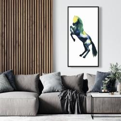Framed 24 x 48 - Greeting horse