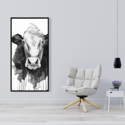 Framed 24 x 48 - Cow