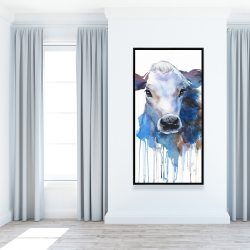 Framed 24 x 48 - Watercolor jersey cow
