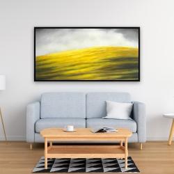 Framed 24 x 48 - Yellow hill