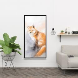 Framed 24 x 48 - Watercolor fox