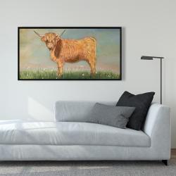 Framed 24 x 48 - Daisy the highland cow