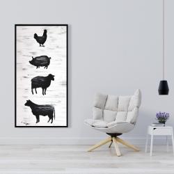 Framed 24 x 48 - Farm animals