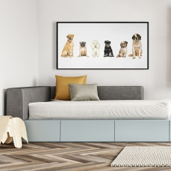Framed 24 x 48 - Man's best friend
