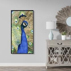 Framed 24 x 48 - Peacock