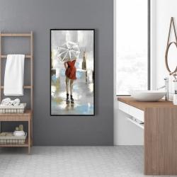 Framed 24 x 48 - Red dress woman