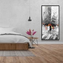 Framed 24 x 48 - Greyish flatiron building