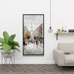 Framed 24 x 48 - Paris busy street