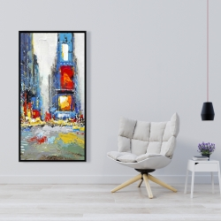 Framed 24 x 48 - Abstract and colorful buildings
