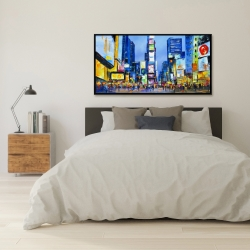 Framed 24 x 48 - Cityscape in times square