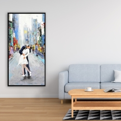 Framed 24 x 48 - Kiss of times square