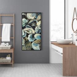 Framed 24 x 48 - Oyster shells