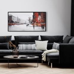 Framed 24 x 48 - Classic street scene