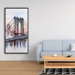 Framed 24 x 48 - Bridge sketch