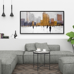 Framed 24 x 48 - City on the horizon
