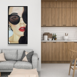 Framed 24 x 48 - Fashionable sunglasses
