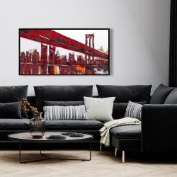 Framed 24 x 48 - Red bridge