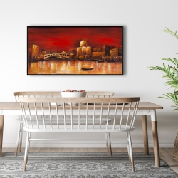 Framed 24 x 48 - Venise by red dawn