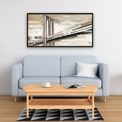 Framed 24 x 48 - City brige