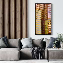 Framed 24 x 48 - Skyscrapers