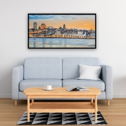 Framed 24 x 48 - Skyline of quebec city